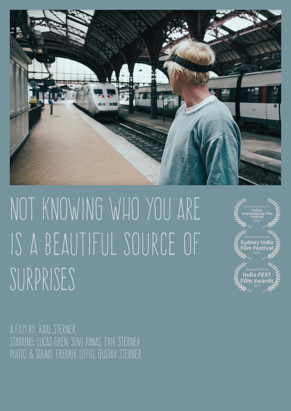 Omslag till filmen: Not knowing who you are is a beautiful source of surprises